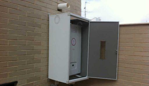 armario caldera exterior