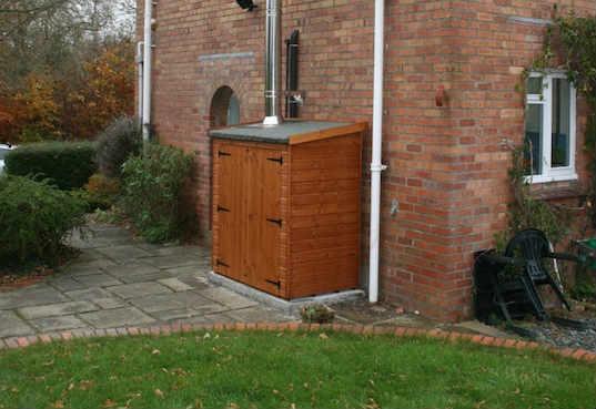 armario caldera madera