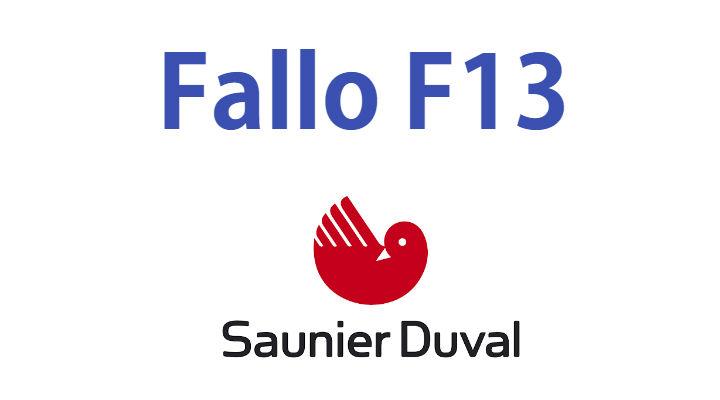Fallo F13 caldera Saunier Duval