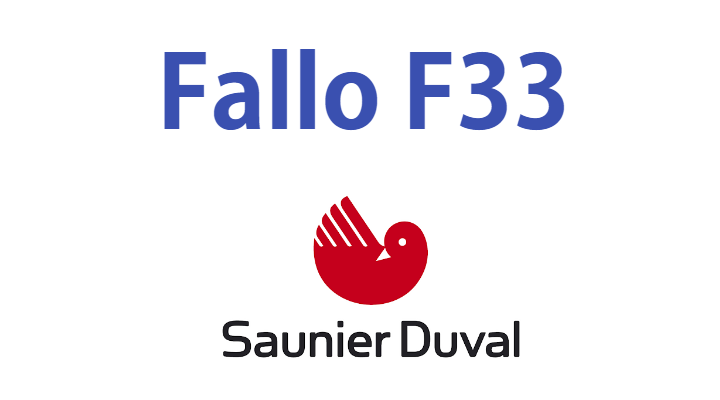 Error F33 Saunier Duval Caldera